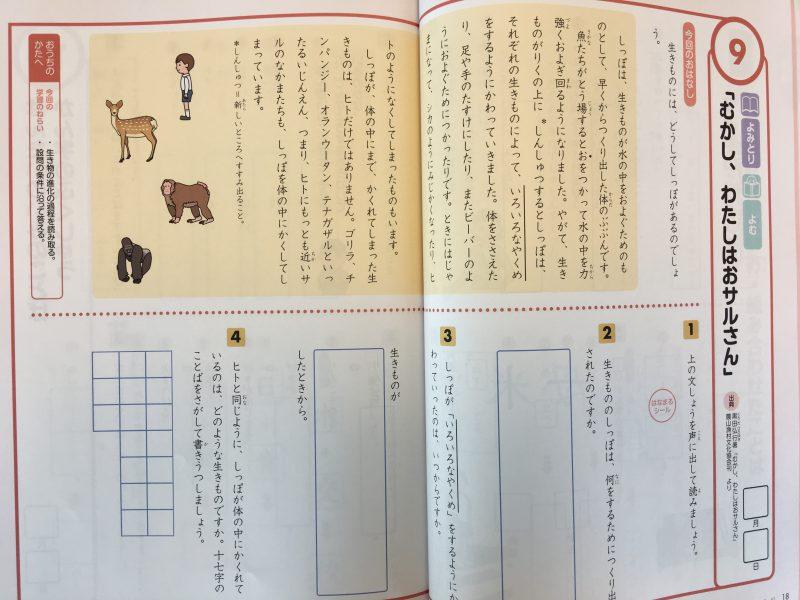 国語の読解問題 Z会小学生わくわくワーク 2年生総復習編