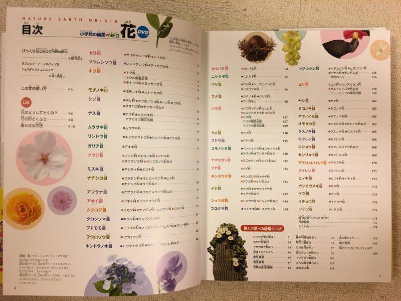 小学館の図鑑NEO「花」 目次