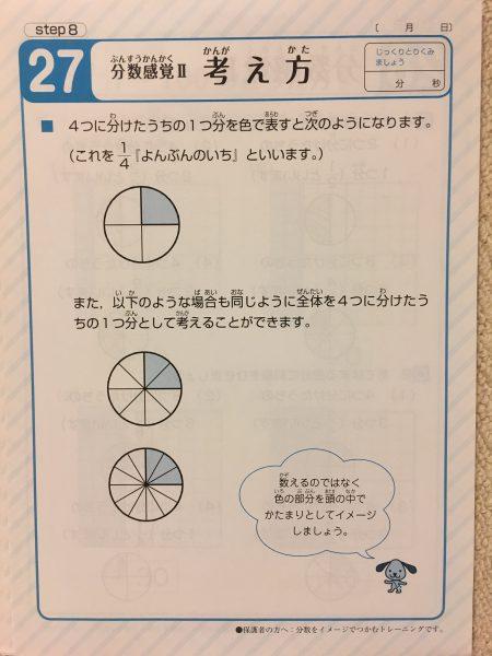 天才脳ドリル 数量感覚/初級 分数感覚 考え方