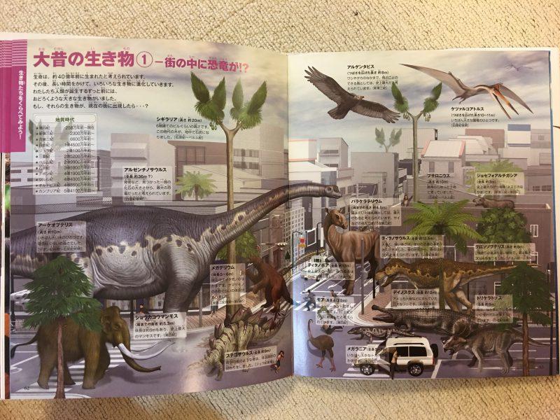 『小学館の図鑑NEO+ くらべる図鑑』大昔の生き物